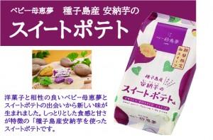 ベビー夢恵夢種子島産安納芋スイートポテト