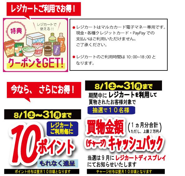 レジカート特典20200801-0831