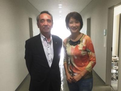 尾中会長と向井さん