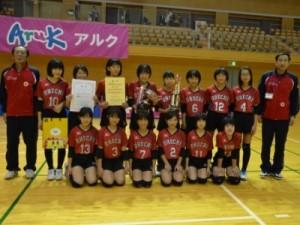 女子優勝 大内バレーボールスポーツ少年団